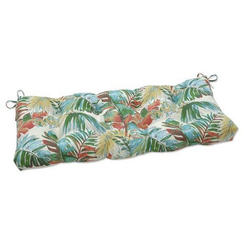 """44"""" x 18"""" Outdoor/Indoor Tufted Bench/Swing Cushion Sengala Teal Blue - Pillow Perfect - image 1 of 1"""