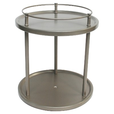 Under Vanity Double Level Spinning Storage Rack Champagne - 88 Main