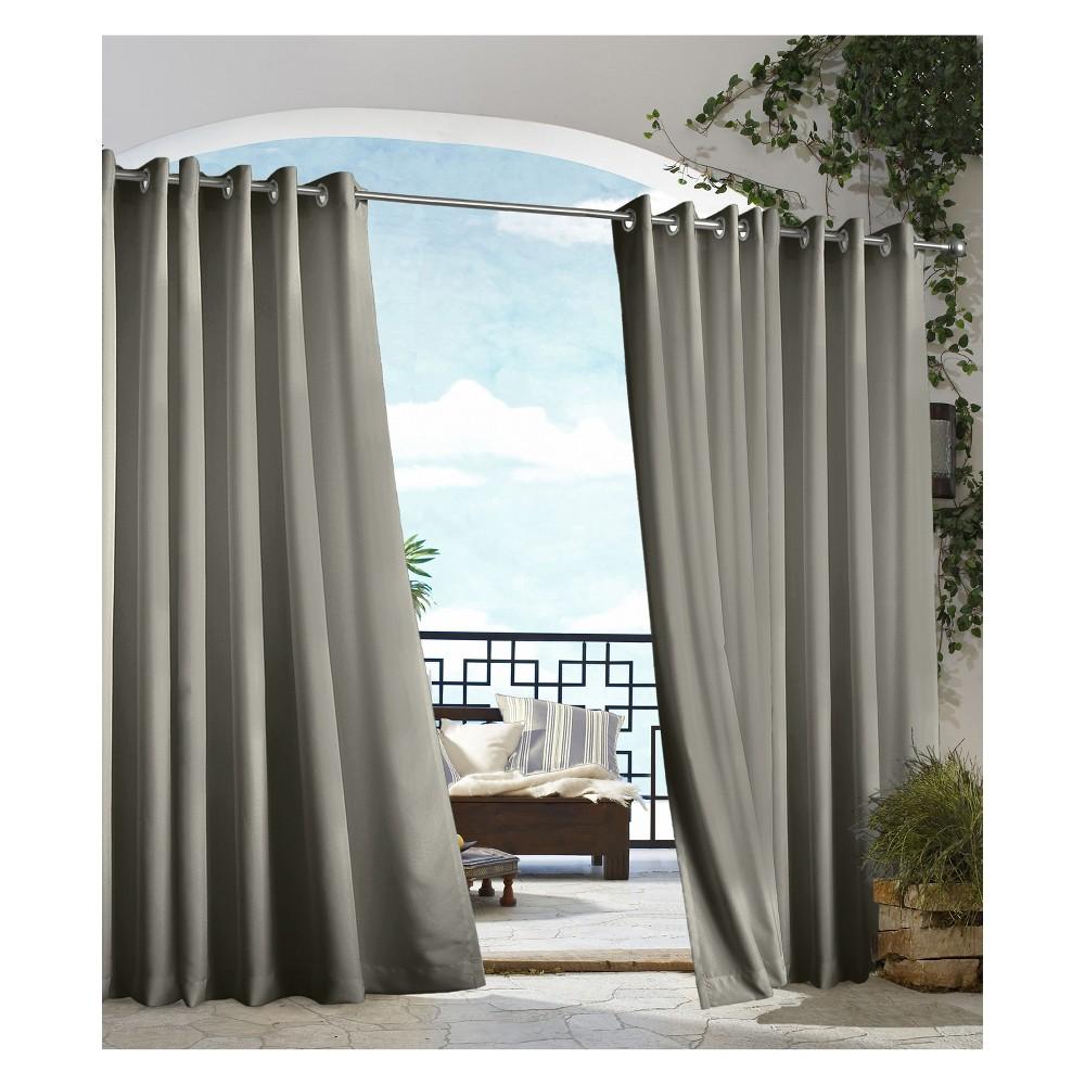 """Image of """"50""""""""x108"""""""" Gazebo Grommet Top Indoor/Outdoor Blackout Curtain Panel Dark Gray - Outdoor Décor"""""""