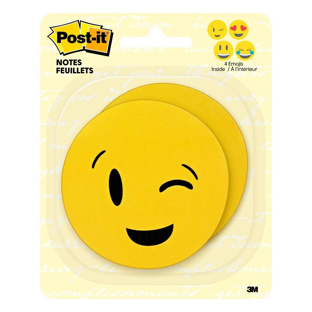"Image of ""Post-it Notes, 3"""" x 3"""" - Emoji designs, 2 Pads/Pk, 30 Sheets/Pad"""