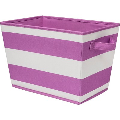 Striped Fabric Bin Small Violet - Pillowfort™