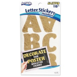 110pc Gold Letter Stickers & Numbers - ArtSkills