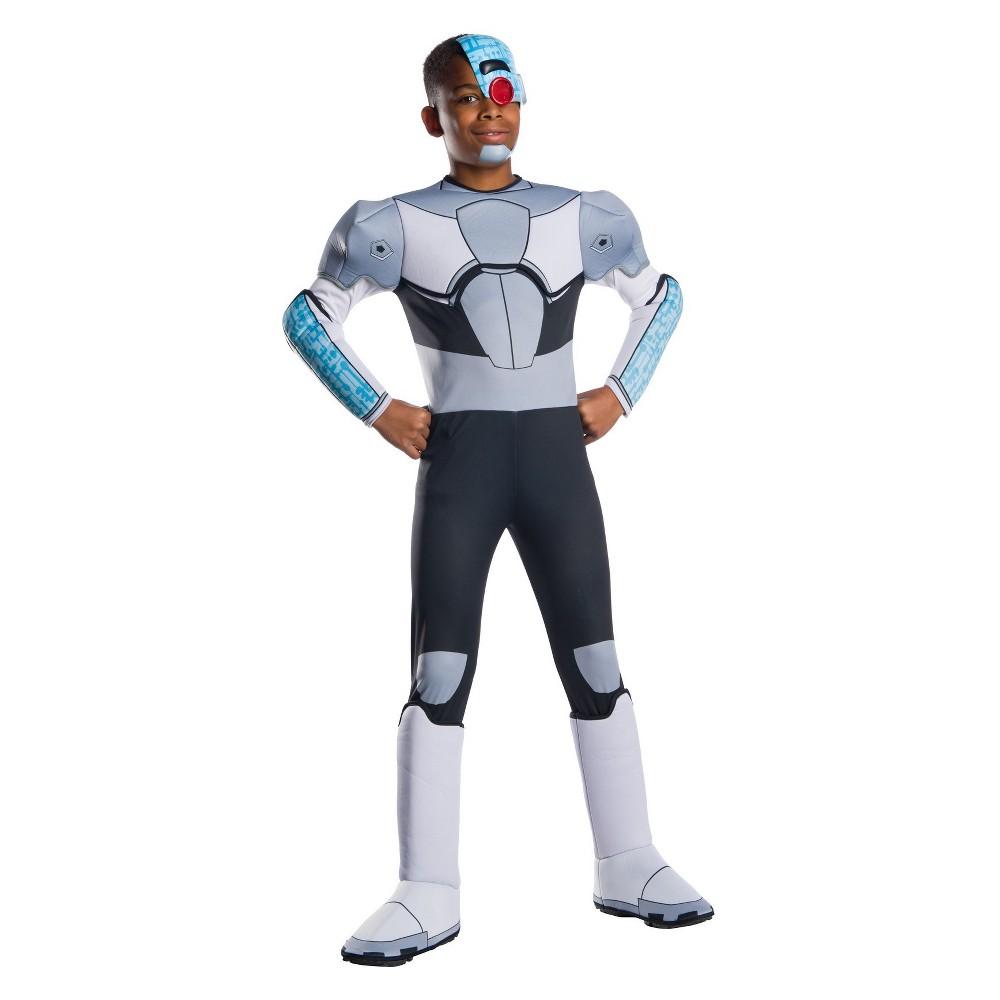 Kids' Teen Titan Go Cyborg Halloween Costume L, Boy's, Multicolored