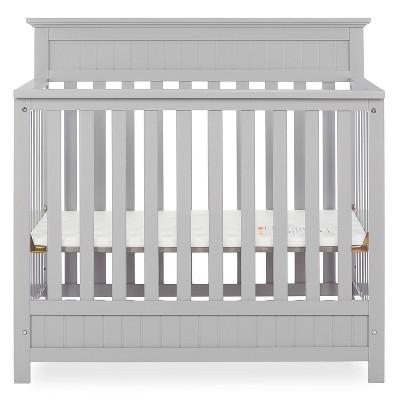 Dream On Me Aspen 4-in-1 Convertible Mini Crib - Gray