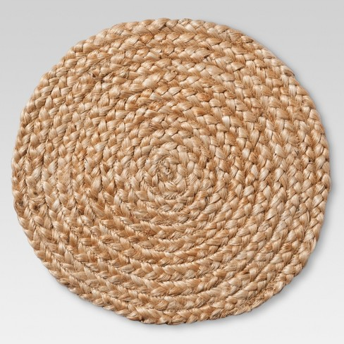 Natural Jute Braid Charger - Threshold™ - image 1 of 2