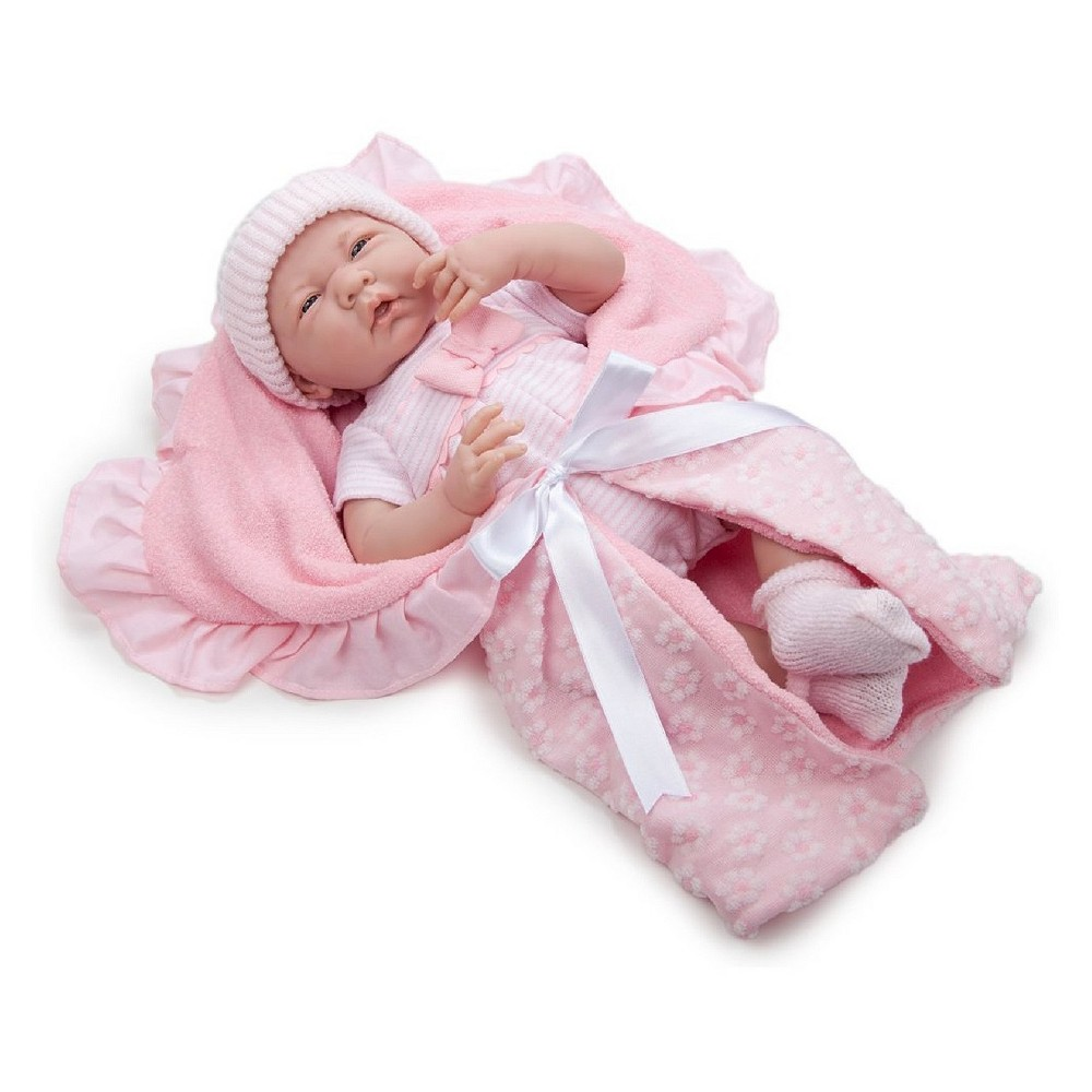 JC Toys La Newborn 15.5 Soft Body Baby Doll - Pink Deluxe Boutique Gift Set, Pastel Pink
