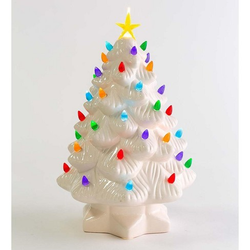 """Plow & Hearth - 14"""" Indoor / Outdoor Lighted Ceramic Christmas Tree - image 1 of 3"""