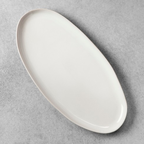 Stoneware Oval Serving Tray - Cream - Hearth & Hand™ with Magnolia - image 1 of 2