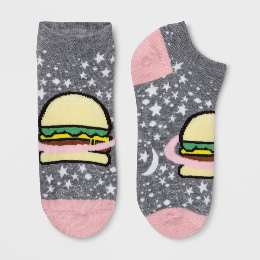 Women's Burger Planet Socks - Xhilaration Heather Charcoal One Size
