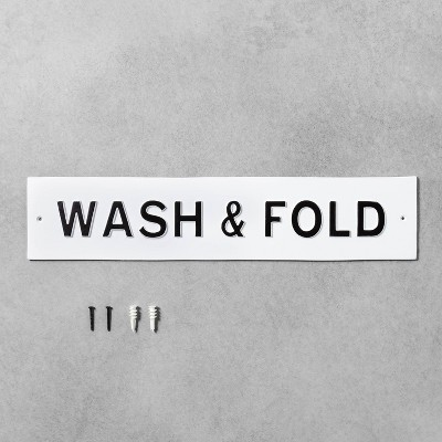 Wash & Fold Wall Sign White - Hearth & Hand™ with Magnolia