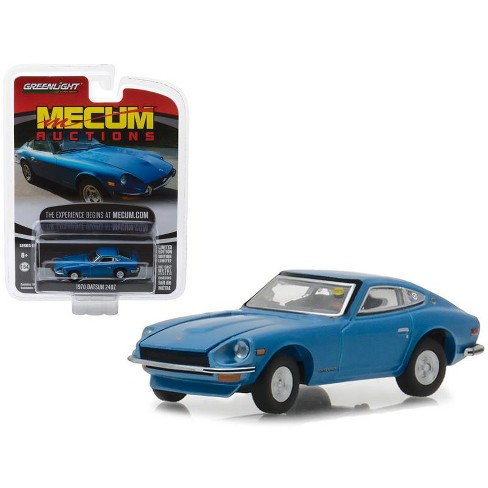1970 Datsun 240Z Blue (Seattle 2014) Mecum Auctions Collector Series 2 1/64 Diecast Model Car by Greenlight - image 1 of 1