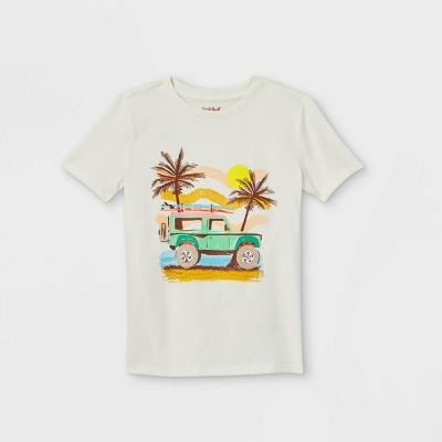 Boys' Safari Graphic Short Sleeve T-Shirt - Cat & Jack™ Cream