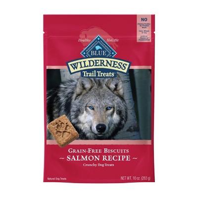 Blue Buffalo Wilderness 100% Grain-Free Biscuits Salmon Recipe Crunchy Dog Treats