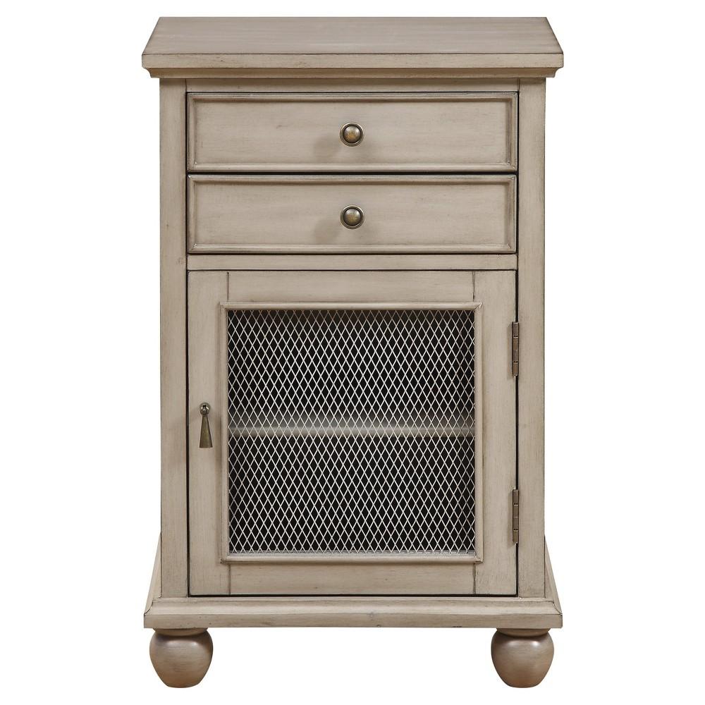 Sabre Wiremesh Cabinet Gray - Treasure Trove
