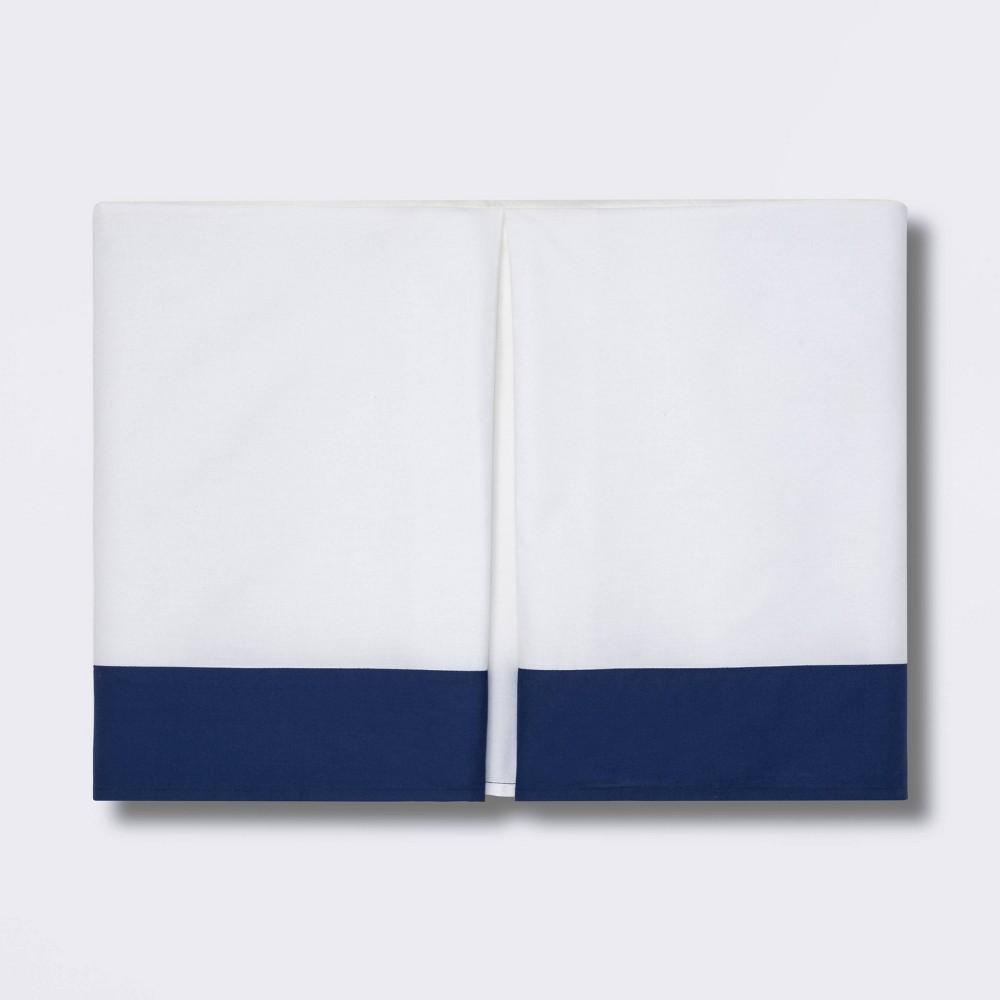 Crib Skirt Pleated Cloud Island 8482 Navy White