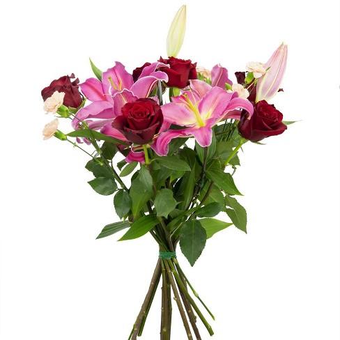 Colour Republic Red Garden Rose Bouquet - image 1 of 4