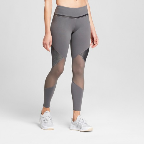 3309ce521 Women s Premium 7 8 Shine and Mesh Pieced High-Waisted Leggings - JoyLab™