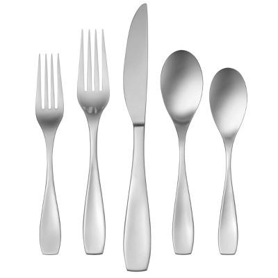 45pc Stainless Steel Calm Everyday Silverware Set - Oneida
