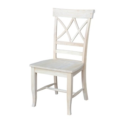 Set of 2 Lacy Dining Chair - Unfinished - International Concepts