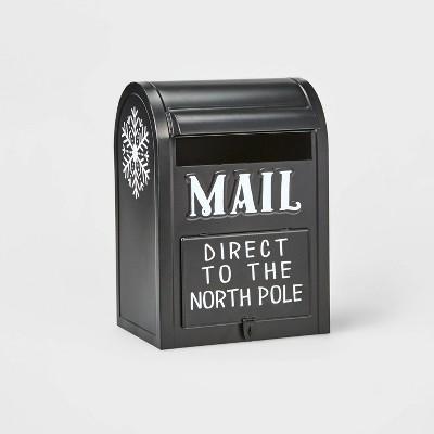 Large Mailbox Decorative Figurine Black - Wondershop™