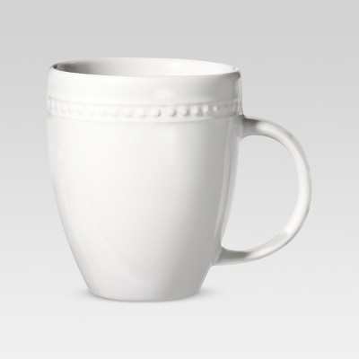 Beaded Rim Porcelain Mug 13.5oz Porcelain - Threshold™