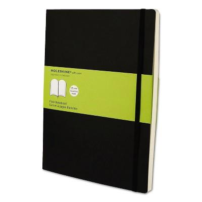 Moleskine Classic Softcover Notebook Plain 10 x 7 1/2 Black Cover 192 Sheets MSX17
