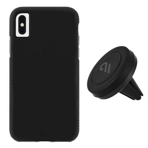Case-Mate iPhone Xs Max Car Case - Tough Grip Black + Car Vent Mount Case - image 1 of 4