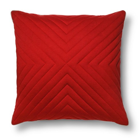 "Oversized Quilted Jersey Throw Pillow (24x24"") - Room Essentials™ - image 1 of 2"