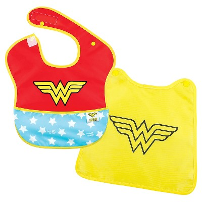 Bumkins Baby Girls' Wonderwoman Waterproof Superbib With Cape