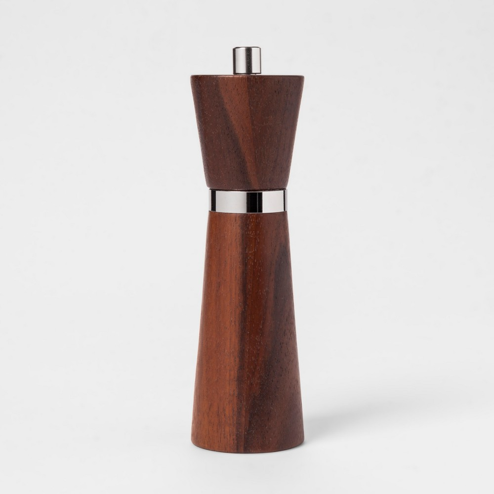 Carbonized Acacia Small Pepper Grinder - Threshold, Brown