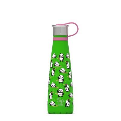 S'ip by S'well 15oz Stainless Steel Glow in the Dark Panda Twirl Kids Water Bottle