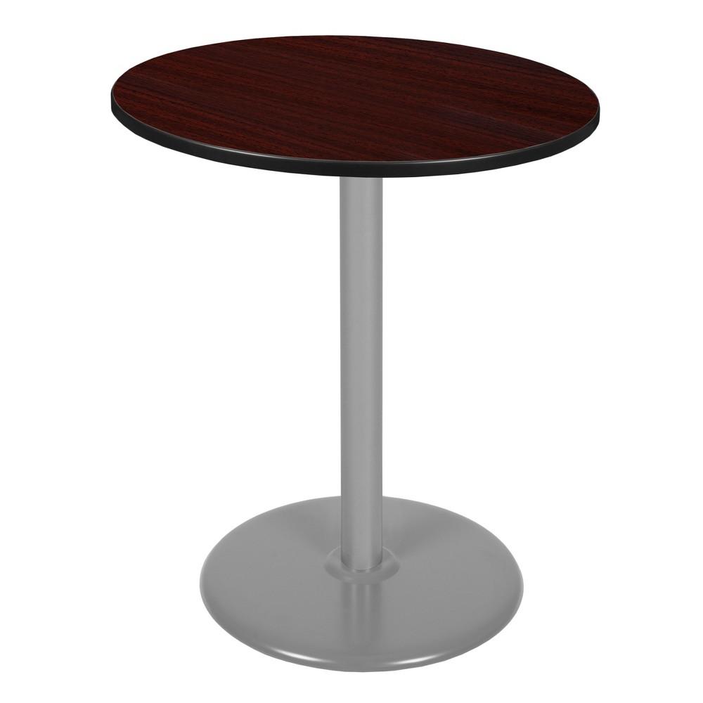 36 Via Cafe High Round Platter Base Table Mahogany/Gray (Brown/Gray) - Regency
