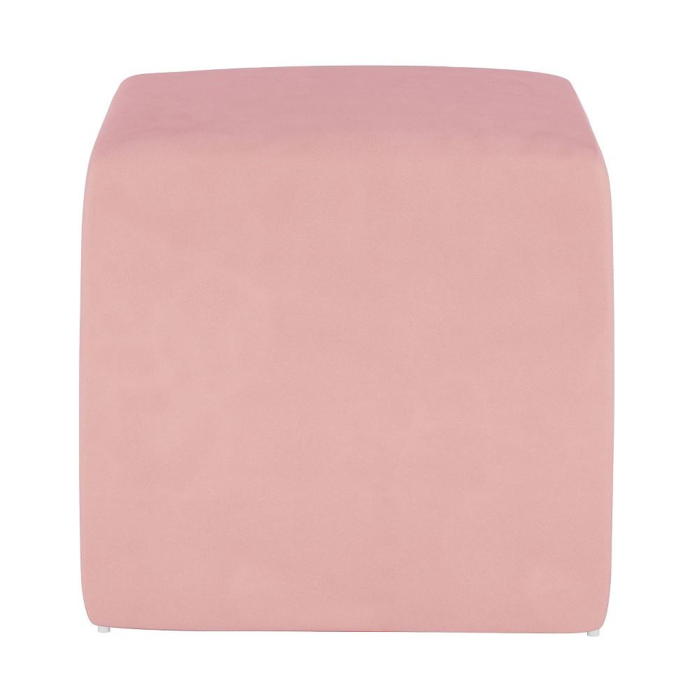 Image of Kids Cube Ottoman Premier Light Pink - Pillowfort