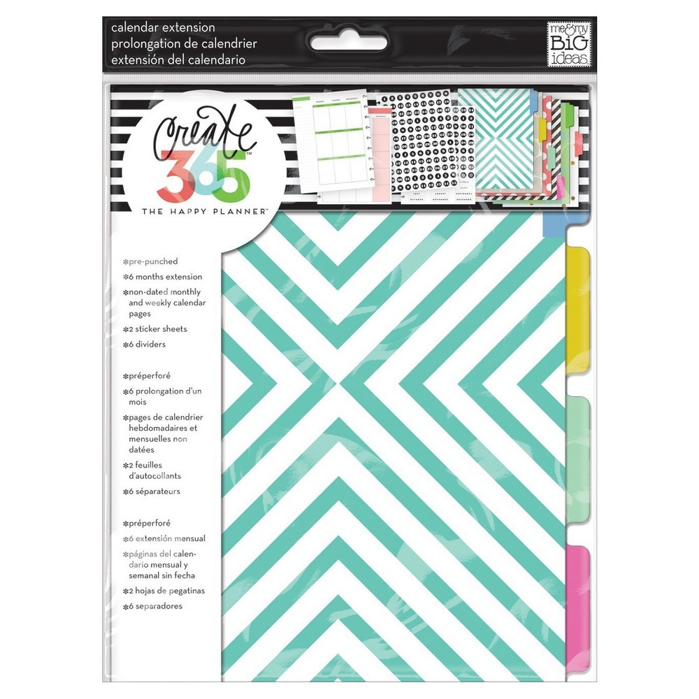 "Image of ""Create 365 Planner Month Extension Pages-Teal, Gold 9.25""""x7"""""""