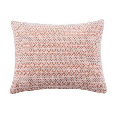 Pippa Coral Lace Overlay Decorative Pillow - Levtex Home