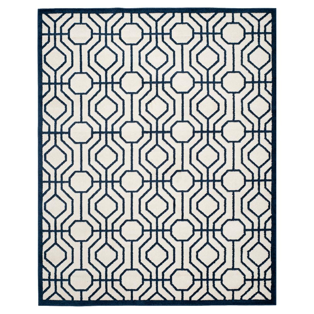Vittoria 9'x12' Indoor/Outdoor Rug - Ivory/Navy - Safavieh, Ivory/Blue