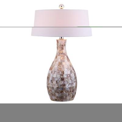 "26.5"" Verna Seashell Table Lamp (Includes LED Light Bulb) Beige - JONATHAN Y"