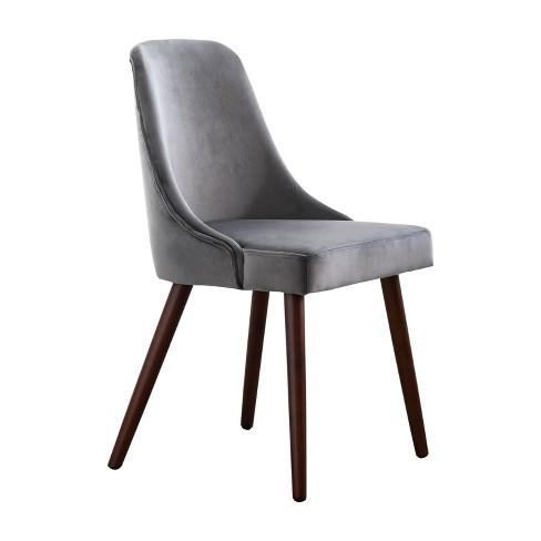 Francine Velvet Dining Chair Charcoal Gray - Abbyson Living - image 1 of 4