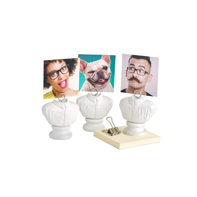 """Design Ideas HeyBuster Photo Holder - Card, Memo and Photo Clip - White, 2.4"""" x 1.5"""" 2.8"""""""