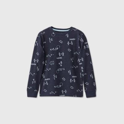 Boys' Long Sleeve Printed T-Shirt - Cat & Jack™ Navy XS