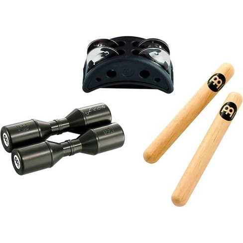 Meinl Percussion Pack w/ Compact Foot Jingle Tambourine, Classic Hardwood Claves and Artist Series Shaker - image 1 of 1
