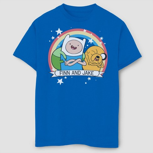 Boys' Adventure Time Finn And Jake Best Buds T-Shirt - Royal Blue - image 1 of 2