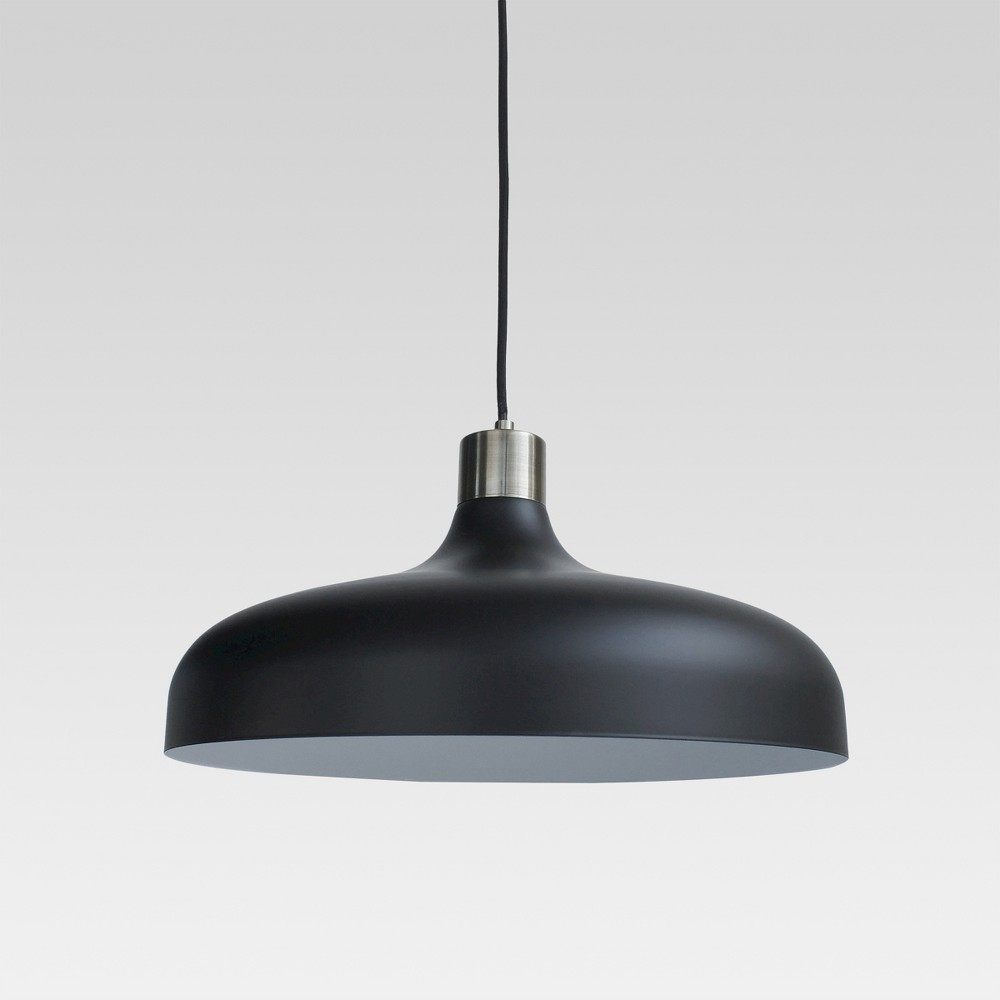 Image of Crosby Large Pendant Ceiling Light Black Lamp Only - Threshold