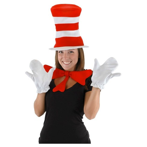 Halloween Adult Dr. Seuss The Cat in the Hat Accessory Kit Red - image 1 of 1