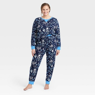 Women's Holiday Hanukkah Print Matching Family Pajama Set - Wondershop™ Blue