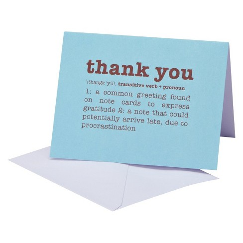 Thank You Card Pack 12 ct CARLTON All Occasions - image 1 of 1