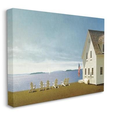 Stupell Industries Americana Cape House Coastal Landscape Charm Painting