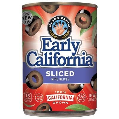 Early California Sliced Ripe Olives - 6.5oz