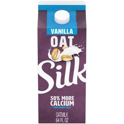 Silk Vanilla Dairy-Free OatMilk - 0.5gal - image 1 of 4
