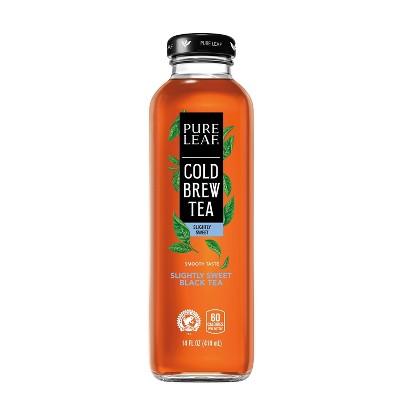 Pure Leaf Cold Brew Slightly Sweet Tea Beverage - 14 fl oz Glass Bottle